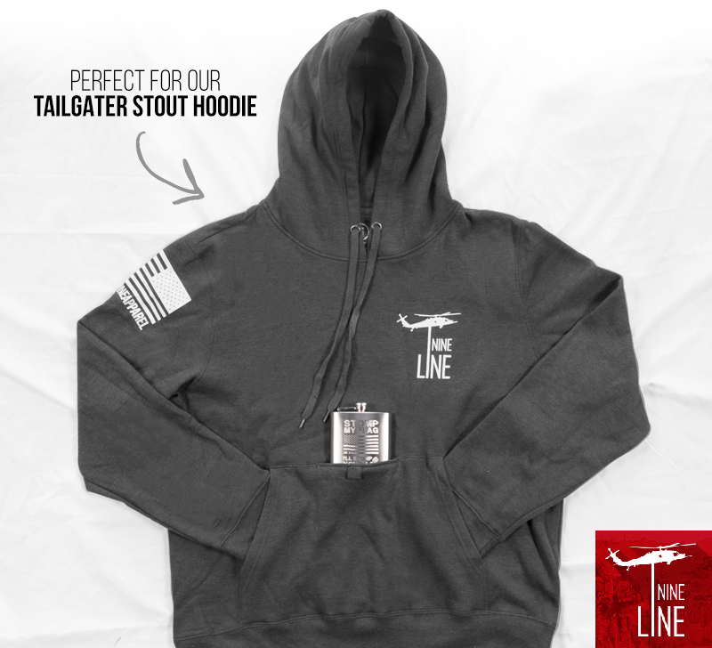Tailgater Hoodie and Stomp My Flag Flask